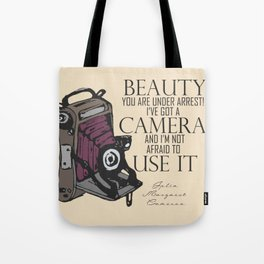 Say Cheese! collection: vintage folding camera Tote Bag