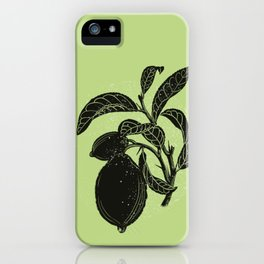 Limon tree and lime color circle iPhone Case