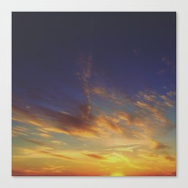 Sunset from the Mountain Canvas Print