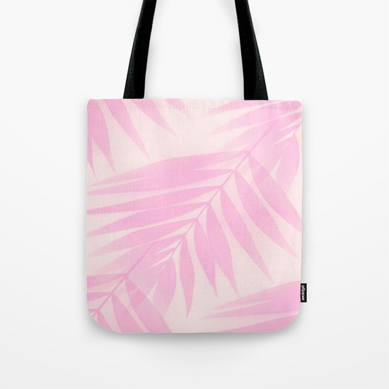 Palm Leaves in Pink Shades  Tote Bag