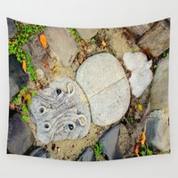 hippo Wall Tapestries featuring Hippo Camp by oneofacard