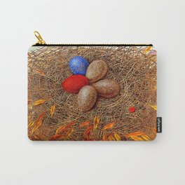 Golden with red. Nest Carry-All Pouch