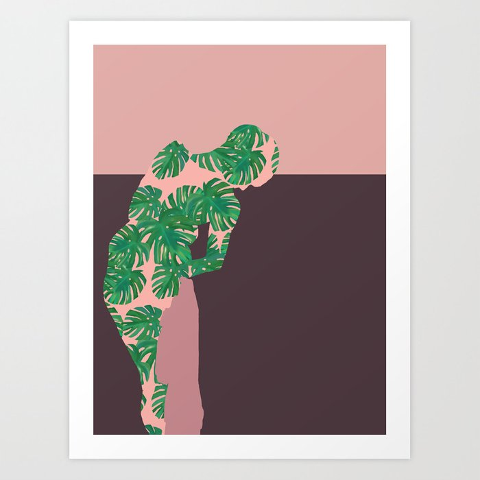 Back to Nature (Monstera after Degas) Art Print