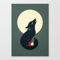 red riding hood Canvas Prints featuring Little Red Riding Hood by Freeminds