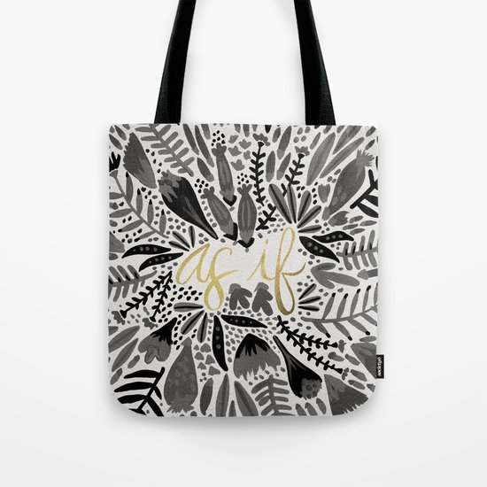 As If – Black & Gold Tote Bag