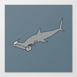 4-Eyed Hammerhead Shark Week Canvas Print