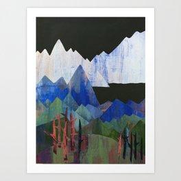 Chroma Mountains Art Print