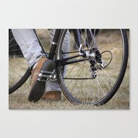 cycle Canvas Prints featuring Cycle by Nicole Webb