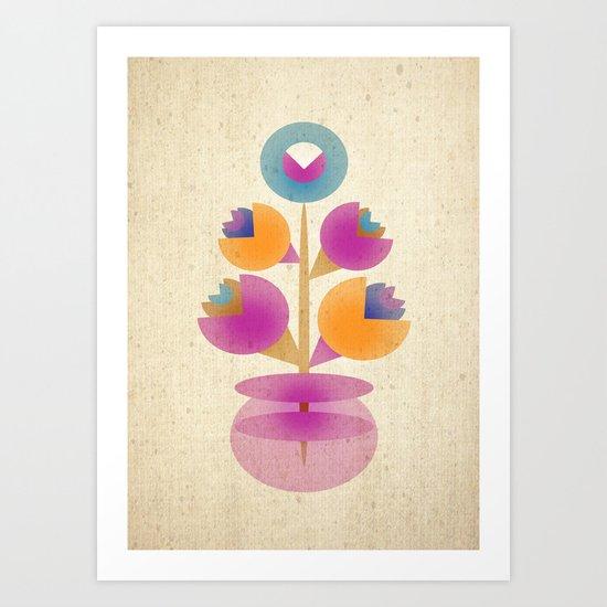 Bunch in Vase Art Print