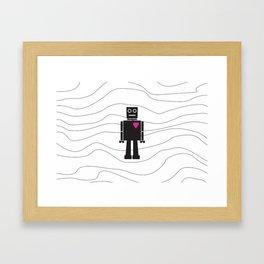 Robot Heart Framed Art Print