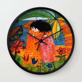 The Embrace Wall Clock
