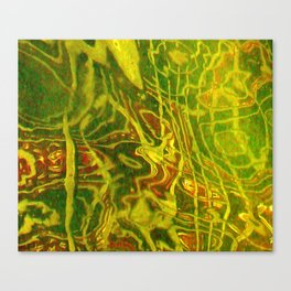 Green Red Water Abstract | Nadia Bonello Canvas Print