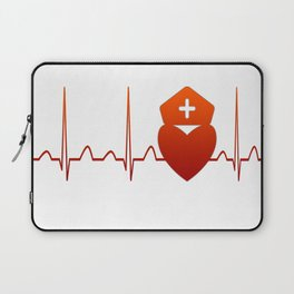NURSE HEARTBEAT Laptop Sleeve