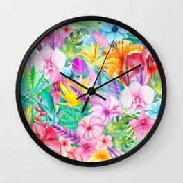 beauty floral i Wall Clock