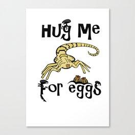 Hugs for EGGS! Aliens Canvas Print