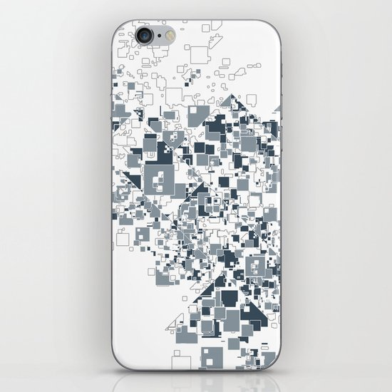 Broken and pixels  iPhone & iPod Skin