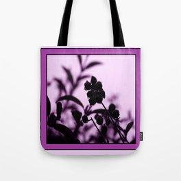 raindrops and hedge berries (purple) Tote Bag