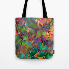 Floral Abstract Stained Glass G176 Tote Bag