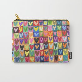 Many hearts and colours Carry-All Pouch