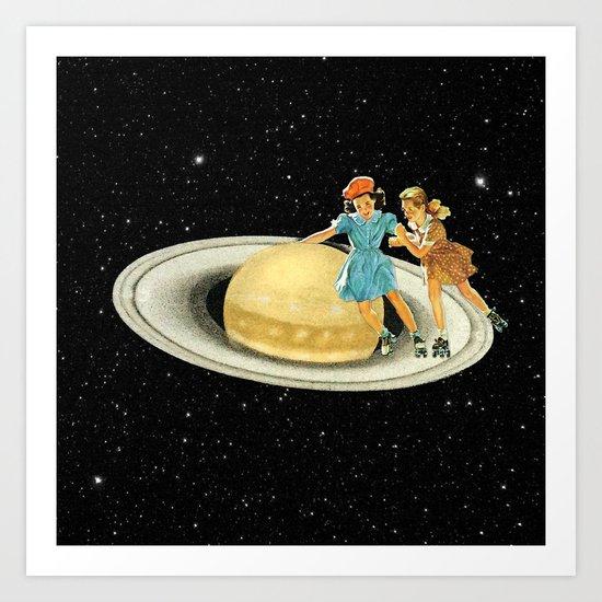 Stroll on Saturn Art Print