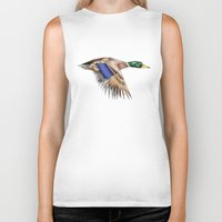 duck Biker Tanks featuring Duck by AkuMimpi