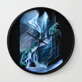Magical Waterfall Cave Wall Clock