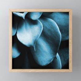 Succulent Leaves In Turquoise Color #decor #society6 #homedecor Framed Mini Art Print