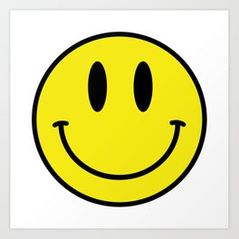 Smiley - Acid House Art Print