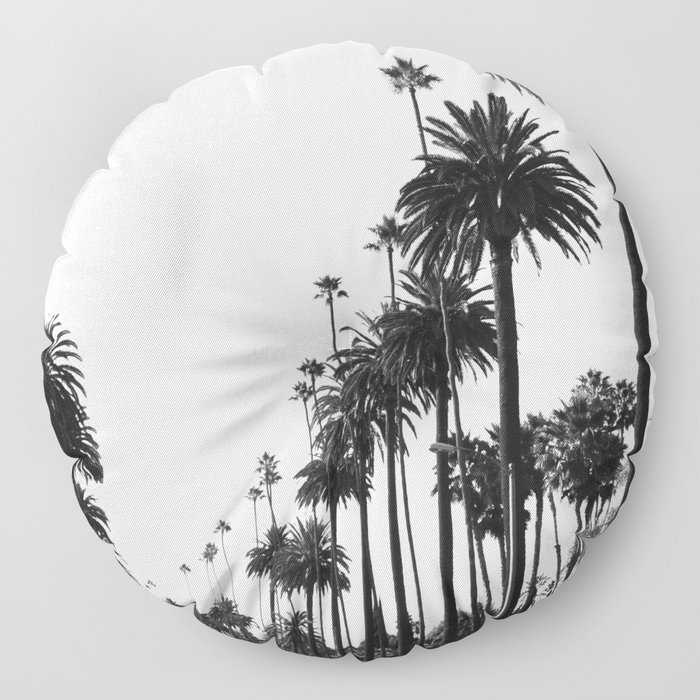 Los Angeles Black and White Floor Pillow