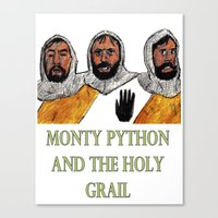 monty python Canvas Prints featuring Monty Python and the Holy Grail by AdrockHoward