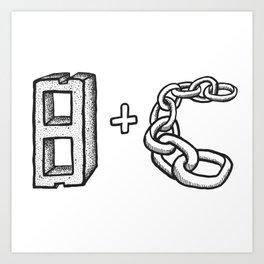 Blockchain Art Print