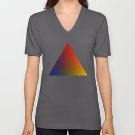 Lichtenberg-Mayer Colour Triangle variation, Remake using Mayers original idea of 12+1 chambers Unisex V-Neck
