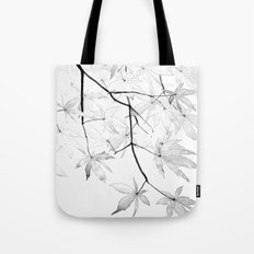 black and white maple leaves Tote Bag