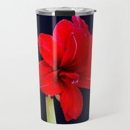 Red Amaryllis Travel Mug