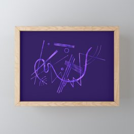 Kandinsky - Purple Abstract Art Framed Mini Art Print