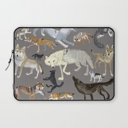 Wolves of the world poster Laptop Sleeve