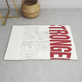 Stronger than I Knew Concussion Awareness Day Rug