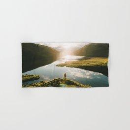 Switzerland Mountain Lake Sunrise - Landscape Photography Hand & Bath Towel