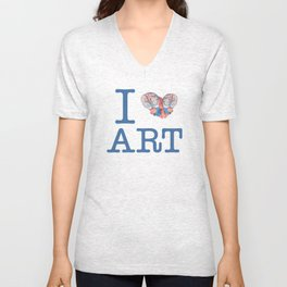 I Heart Art Unisex V-Neck