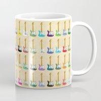 guitar Mugs featuring Guitar by WyattDesign