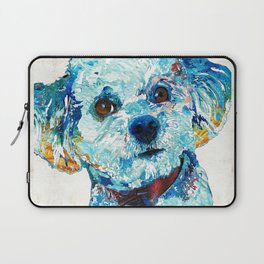 Small Dog Art - Who Me - Sharon Cummings Laptop Sleeve