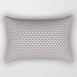 Pattern diamond flowers Rectangular Pillow