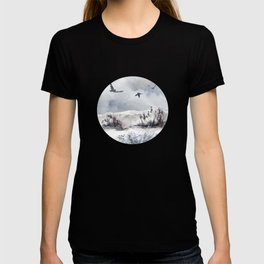 Soaring Above Sandy Beaches Against Stormy Skies T-shirt