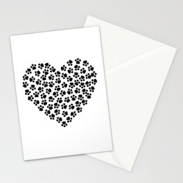 Paw Print Love Stationery Cards