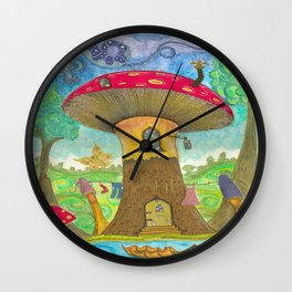 not mushrooms Wall Clock