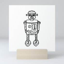 just a robot Mini Art Print