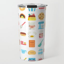 CUTE BAKERY PATTERN (CUTE CHEF BAKER) Travel Mug