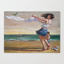 my wife & son Canvas Print