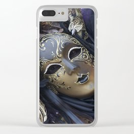 Carnival mask Clear iPhone Case