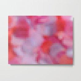 Pixelated Watecolor III Metal Print